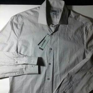 NWT DKNY Slim Fit Mens Button Up Shirt